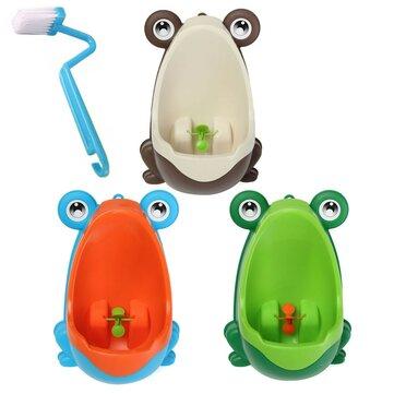 Lovely Frog Brush Cleaning Children Potty Toilet Training Kids Urinal Kid Boy Pee Removable Bathroom