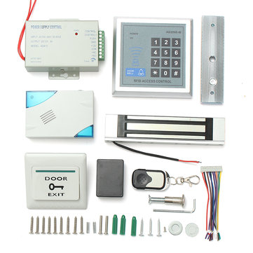 RFID Door Access Control System ID Card Password Keypad Kit With Magnetic Lock