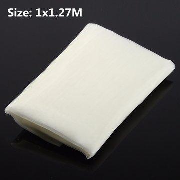 100x127cm White Silk Screen Printing Fabric Cloth 110 Mesh 43T