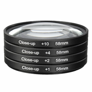 Buy 58mm Macro Close Up Filter Lens Kit +1 +2 +4 +10 for Canon EOS 700D 650D 600D 550D 500D 1200D 1100D 100D Rebel T5i T4i Lens for $8.99 in Banggood store