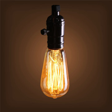 40W E27 ST58 Edison Bulb Antique