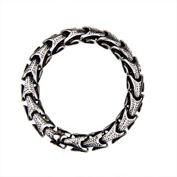 10mm Vintage Titanium Steel Dragon Chain Bracelet for Men
