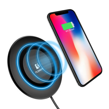 FLOVEME LED Light Qi Wireless Charger Mobile Phone Charging Pad Dock For iPhone X 8Plus Samsung S8