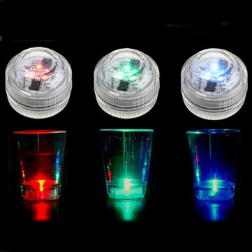 Waterproof Mini LED Colorful Round Candle Underwater Light Lamp