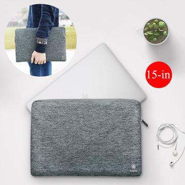 Baseus Slim Waterproof Soft Verhoogde Fluff Lining Rits Laptop Tas Voor MacBook Pro 15-inch Lenovo