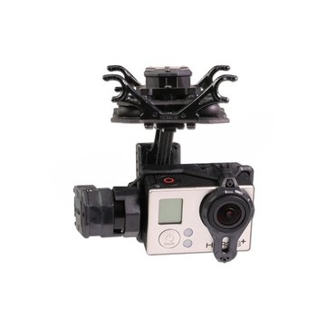Tarot T4-3D Dual Shock Absorber 3 Axis Gimbal PTZ for Gopro Hero4 3+ 3 FPV Quadcopter TL3D02