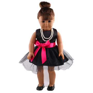 Black Dress Doll Clothes For 18inch American Girl