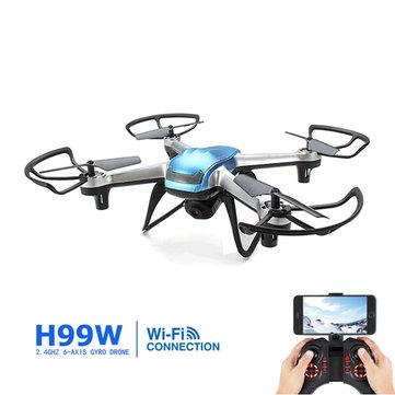 Eachine H99W WIFI FPV con 2.0MP 720p HD Cámara 2.4G 6 ejes sin cabeza Cuadricóptero RC RTF