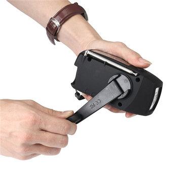 N29TF El Feneri MP3 Çalarlı Solar Dinamo FM AM Radyo Taşınabilir El Crank Jeneratörü