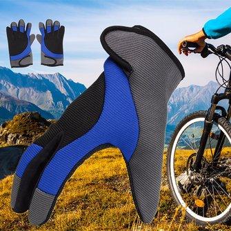 Нить волокна вождения перчатки полные пальцы толстые Skidproof на открытом воздухе варежки езда на велосипеде Nylon мужчины мужчины