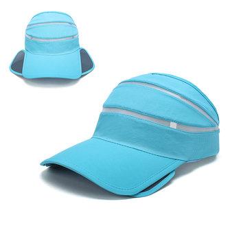 Unisex Retractable Wide Brim Sun Hat Summer Breathable Outdoor Beach Baseball Cap