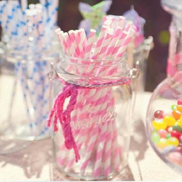 25 قطع ورقة القش ل حفل زفاف الديكور إمدادات حزب القش ورقة الإبداعية الشرب القش