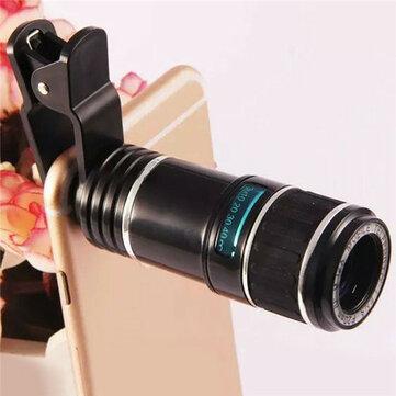 12X العالمي تليفوتوغرافي عدسة الهاتف المحمول زووم بصري تلسكوب كاميرا آيفون Samsung