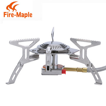 Fire-Maple Split Gasfornuis 2600W Camping Picnic Cooker Mini-Burner Ov Stainless Steel FMS-105