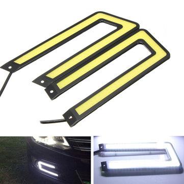 U-shaped LED nebbia di auto drl guida di giorno che dirige il cigno maschio di faro antinebbia leggero 6000k