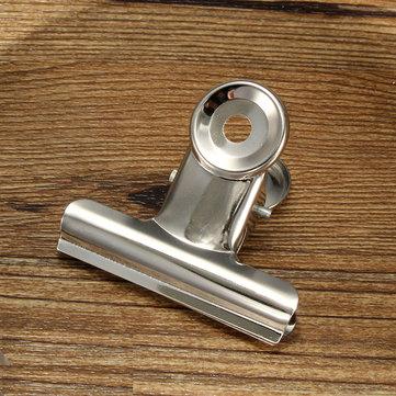 De aço inoxidável de prata clips buldogue dinheiro carta encadernação grampos de arquivo de papel