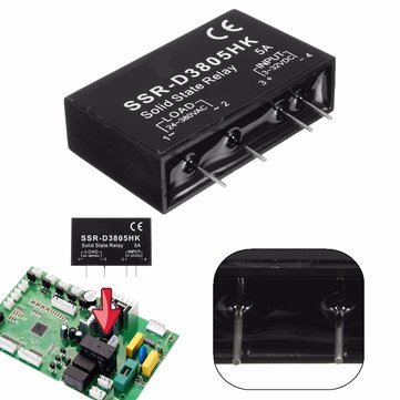 DC 3-32V 5A DC-AC SSR-D3805HK Controle Solid State Relay Module