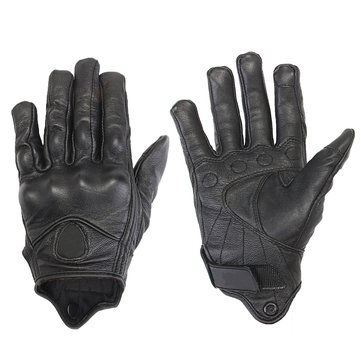 Touch Screen Motorcycle Leather Gloves Riding Racing Bike Protective Armor Black 1186624