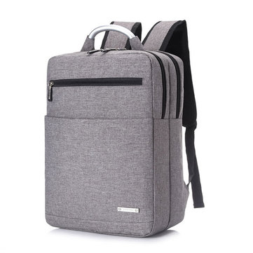 Buy 15inch Men Women Unisex Large Capacity Laptop Backpack Nylon Business Knapsack for $7.99 in Banggood store