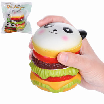 Vlampo Squishy Panda Hamburger 10cm Slow Rising Original Packaging Collectie Gift Decor Toy