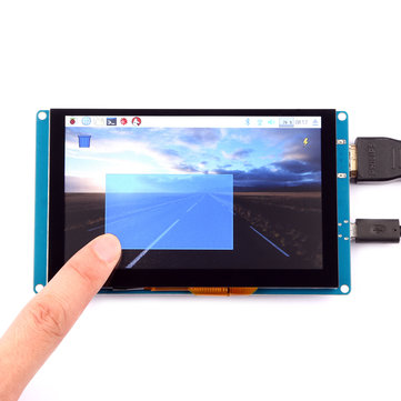 5 Inch 800*480 Resolution HD Capacity Touch Screen Support USB Control For Raspberry Pi