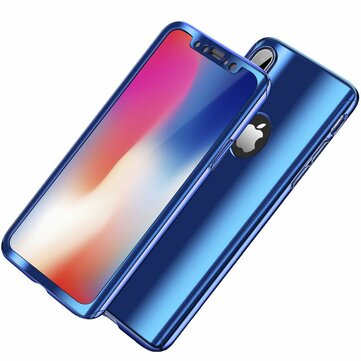 Bakeey Plating 360° Full Body Case+Tempered Glass Film For iPhone X/8/8 Plus/7/7 Plus/6s/6s Plus/6/6 Plus
