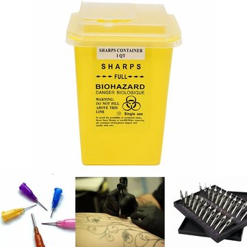 Tattoo Dental Sharps Needle Container Infectious Waste Box Storage