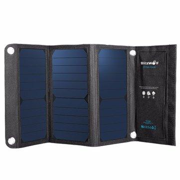 Blitzwolf® 20w 3A Cella di Potenza Solare USB Pieghevole Portabile con Power3s per iPhone 6s / 6