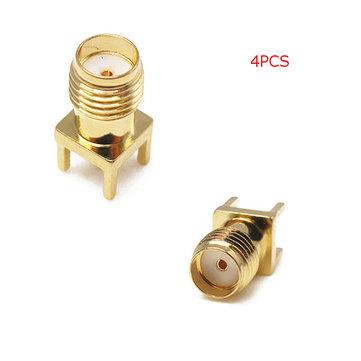 4PCS SMA vrouwelijke adapter EdgE-mount soldeer RF connector