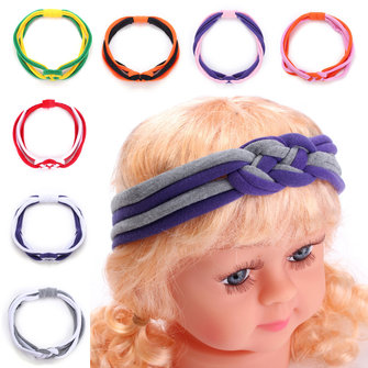Kid Baby Girl Baby Twist Braid Weave Multicolor Casual Katoenmix Headbrand Haaraccessoires
