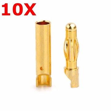 10 pares amasan 4.0mm conector banana am-1003e masculino y femenino
