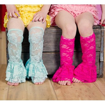 Baby Girls Lace Leg Warmers Leggings Socks Summer Toddler Rompers Dun Rose