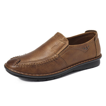 Mannen Comfortabel Soft Zool Hand Stitching Cap Toe Casual Oxfords