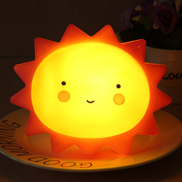 Bathroom Night Light sun shape children kid baby cute led night light lamp for bathroom