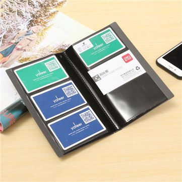 Plastic 120 Cards Sheets Business Name ID Credit Card Holder Card Case Organizer