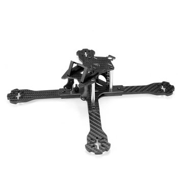 Realacc Lion210 210mm Carbon Fiber 4mm Arm FPV Racing X Frame RC Drone w/ 5V & 12V PDB Taillight