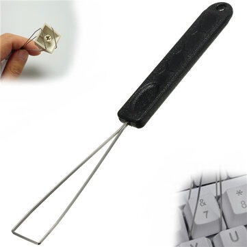 Keyboard Key Keycap Puller Key Cap Remover With Unloading Steel Cleaning Tool