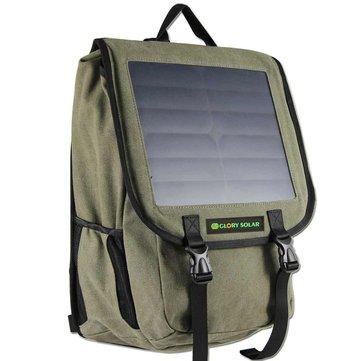 Acampar al aire libre mochila solar paquete de cargador de viaje mochila con panel solar 10w