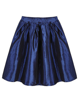 Casual High Waist Metallic Slim A Line Mini Skirt