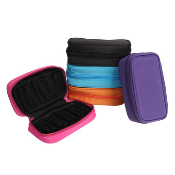 10 Position Essential Oil Almacenamiento Llevando Caso Holder Bolsa para Viajar 10ml / 15ml