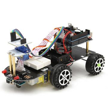 สมาร์ท รถ หุ่นยนต์ DIY ชุด Bluetooth รีโมทคอนโทรล อุปสรรคในการติดตามสำหรับ Arduino