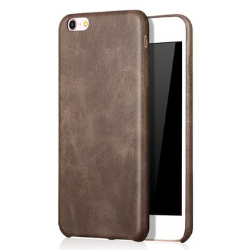 Bakeey ™ Retro Soft PU Leather Ultra Dunne Schokbestendige Case Back Cover Voor iPhone 6 6s 4,7 inch