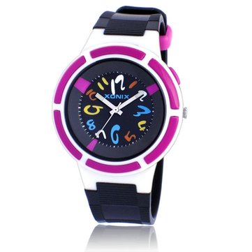 XONIX RH-J Montre mignonne imperméable à l'eau 100M Luminous Student Casual Swimming Children Watch