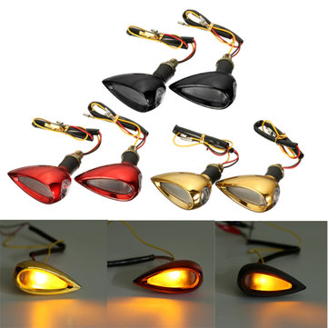 Buy Pair 12V Universal Motorcycle Amber LED Turn Signal Indicator Running Light Bullet for $5.50 in Banggood store