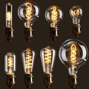 E27 عكس الضوء كوب ليد خمر الرجعية الصناعي اديسون مصباح داخلي الإضاءة الشعيرة ضوء لمبة ac110v