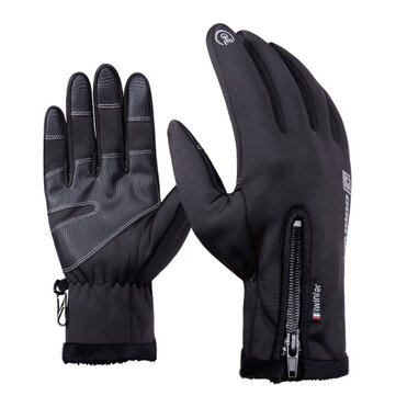Waterproof Touch Screen Gloves For Motorcycle Cycling Skiing Men Black S M...