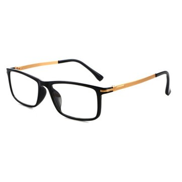 SHUAIDI Anti-blue Anti-fatigue Reading Glasses Black Frame Resin Aluminum Computer Presbyopic Glass