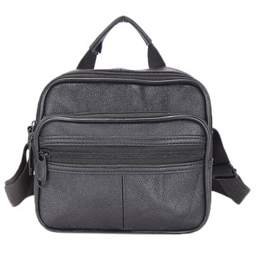 Multifunzionali casuale uomini borsa crossbody genuina del lether borsa portatile