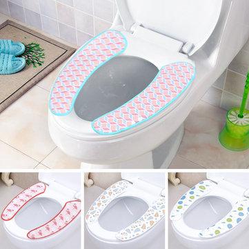 Image of 1 Paar Soft Pull Plüsch Badezimmer WC Sitzbezug Waschbar Closestool Mat