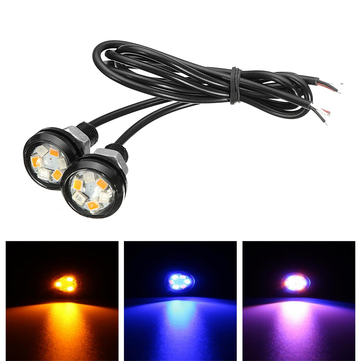 Pair Car Motorcycle LED Dual Color